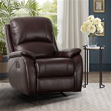 Buy Kevin One Seater Manual Recliner In Dark Brown Leatherette.