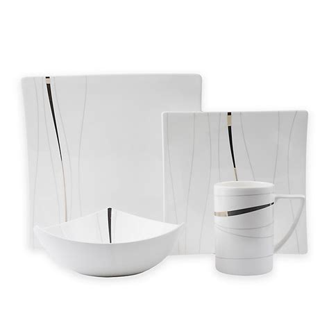Buy Red Vanilla Odett Platinum 8-Piece Dinnerware Set From .