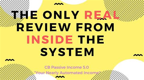 Cb Passive Income 5.0 - Patric Chans Program Review.