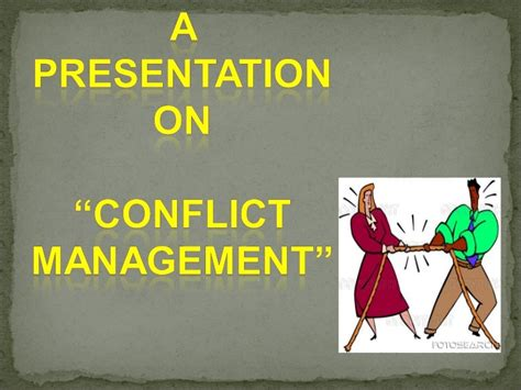 @ Conflict Management - Powerpoint Ppt Presentation.
