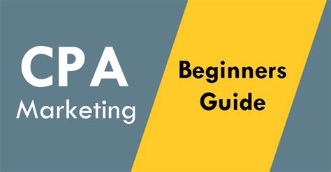 Cpa Marketing For Beginners (full Detail Guide Of 2019) - Techmasi.