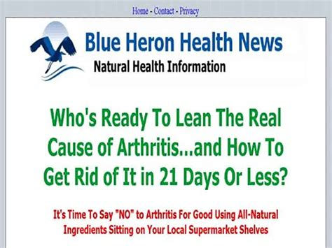 @ Cure Arthritis Naturally   Blue Heron Health News Free .