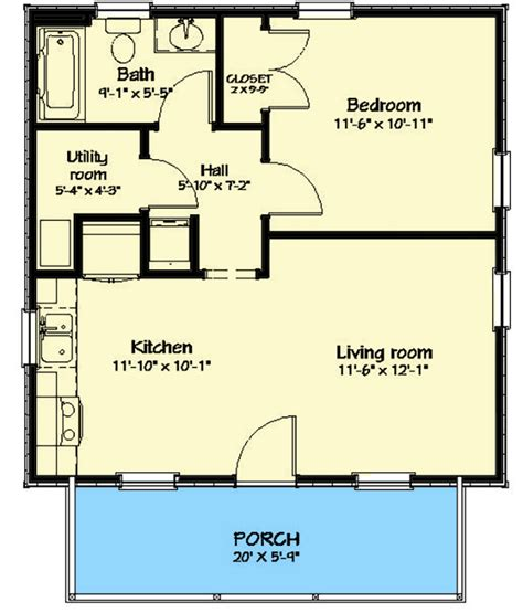 Cabin Plans Under 600 Square Feet