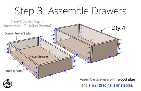 Cabinet Drawer Plans