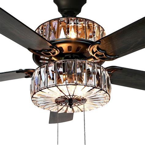 Caged Crystal Ceiling Fans With Lights Tag Caged Crystal .