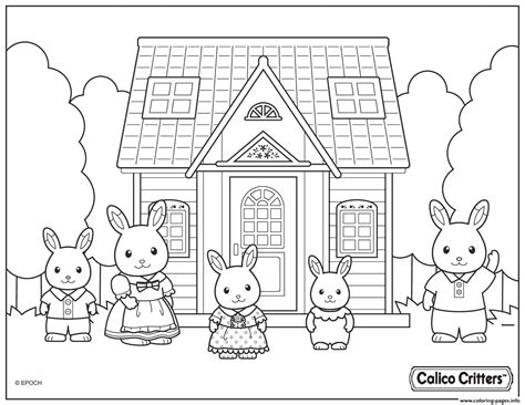 @ Calico Critters Coloring Pages Free Printable.