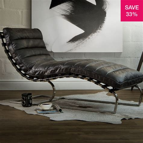 Can T Miss Bargains On Top Grain Leather Chaise Longue.