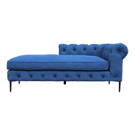 Canal Modern Chaise Blue By Moe S Home.