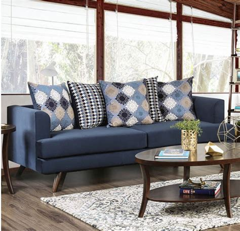 Canal Modern Sofa In Blue - Southfirsthome.