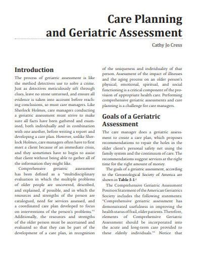 [pdf] Care Planning And Geriatric Assessment.