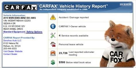 Carfax Free Report Diminished Value Car Appraisal.