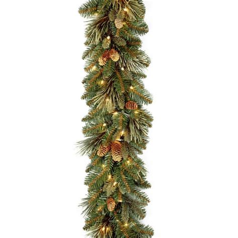 Carolina Pine 9 Ft Garland With Clear Lights-Cap3-306-9a .