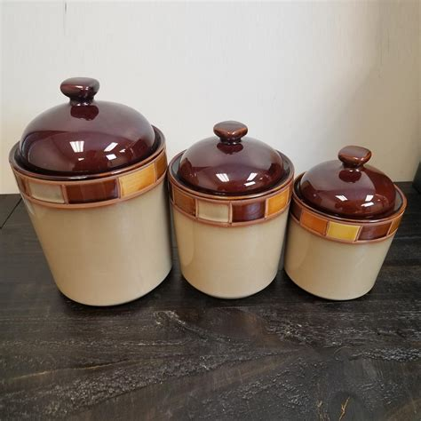 Casa Estebana 3-Piece Canister Set By Gibson For Sale .