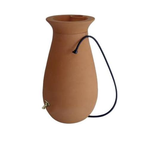 Cascata 65 Gal Rain Barrel In Terracotta - The Home Depot.