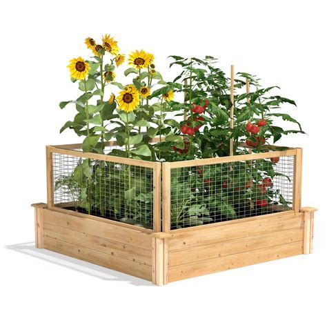 Cedar Raised Garden Bed With Critterguard Cedar Fence .