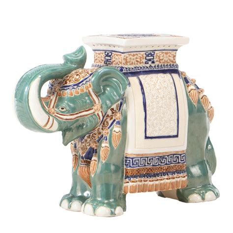 Ceramic End Tables Elephant