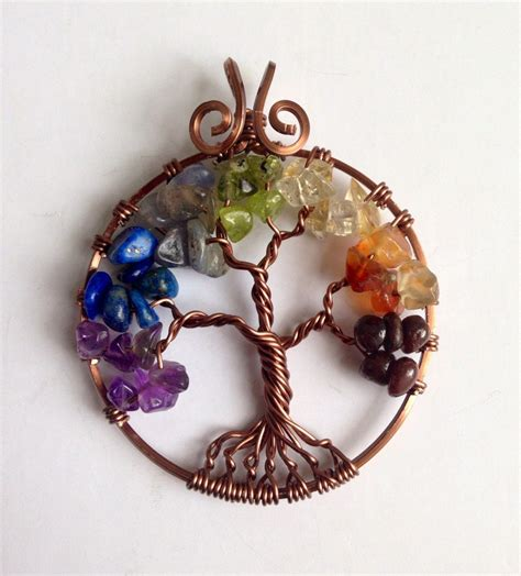 [click]chakra Pendants - 7 Chakra Tree Of Life Pendant India