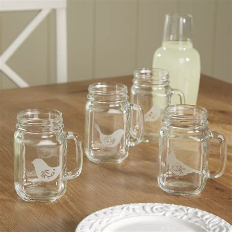Charlton Home Sabine Birds Of A Feather Drinking Jar  Wayfair.