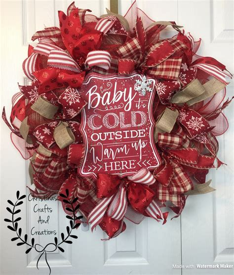 Christmas Or Winter Wreath Baby It  S Cold Outside Handmade .