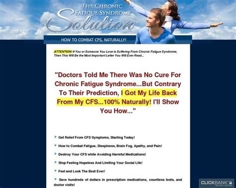 [click]chronic Fatigue Syndrome Solution  Free 3 Months Coaching.