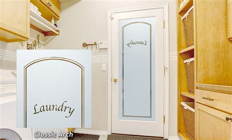 Classic Arch Laundry Room Door - Sans Soucie Art Glass.