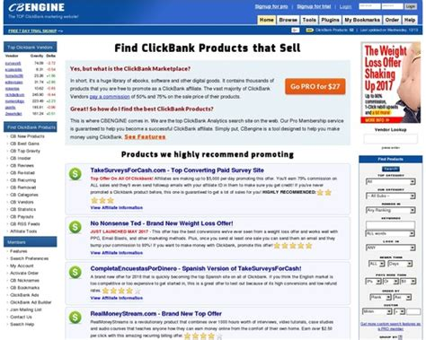 Clickbank Vendors Starting With Letter (s) - Cbengine.