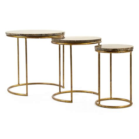 Clovis Nesting Tables Set Of 3 By Zentique For Sale .