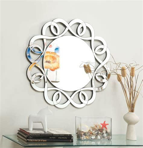 Coaster Accent Mirrors Contemporary Round Frameless Mirror.