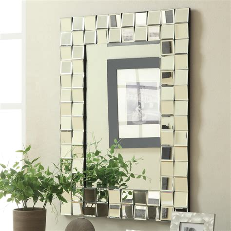 Coaster Accent Mirrors Frameless Contemporary Wall Mirror.