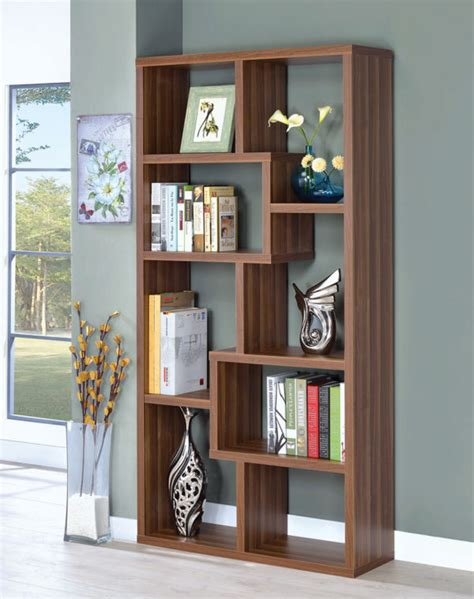 Coaster Bookcases Open Bookcase With Different Sized .