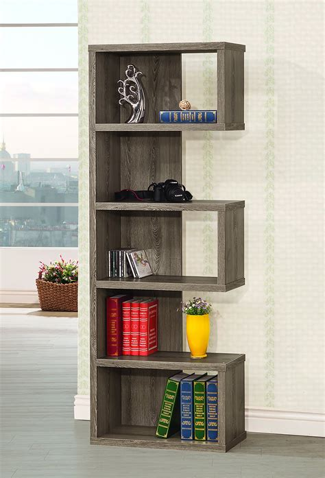 Coaster Home Furnishings 5-Shelf Semi-Backless Bookcase .