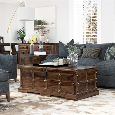 Coffee Table Trunks Rustic