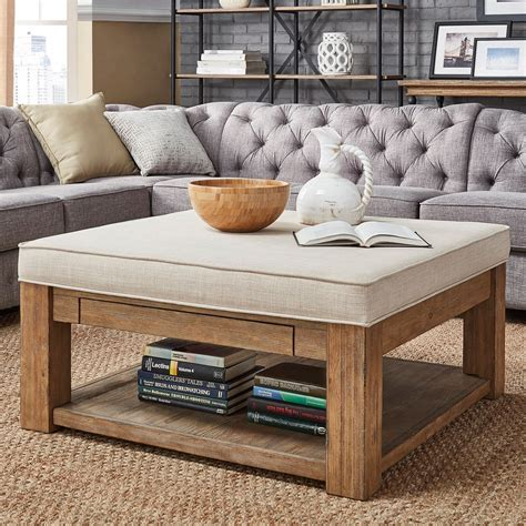 Coffee Tables With Storage Ottomans