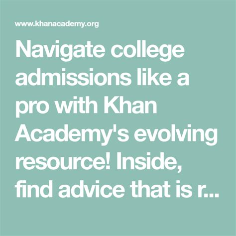 [click]college Admissions  College Careers And More  Khan Academy.