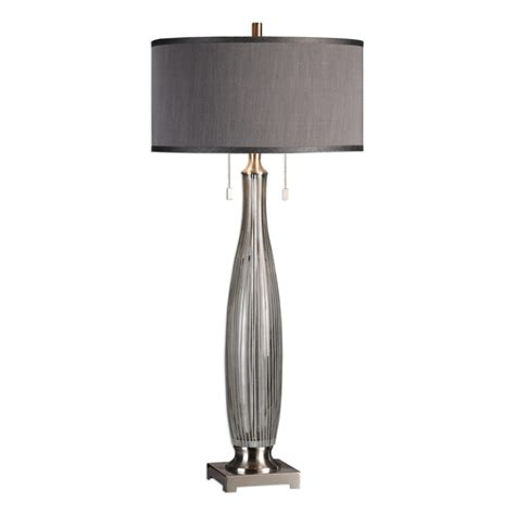 Coloma Gray Glass Table Lamp - Lamps Com.