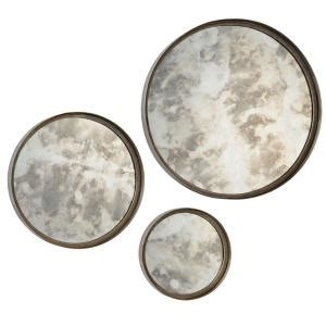 Compare Prices For Renwil Shire 3 Piece Round Mirror Set .