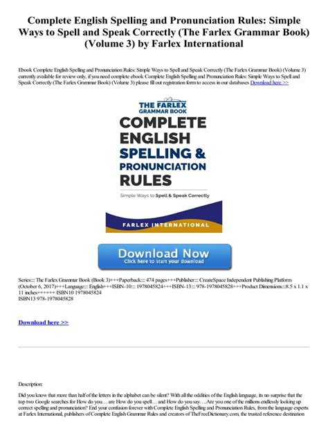 [click]complete English Spelling And Pronunciation Rules Simple .