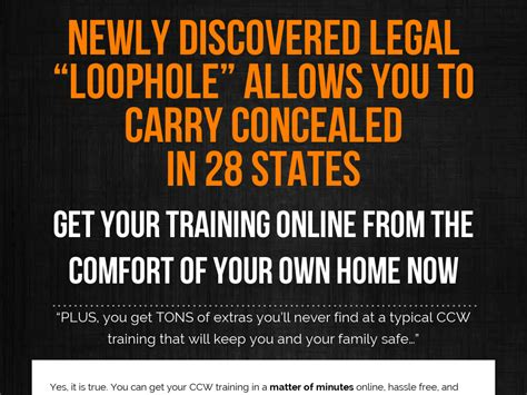 Concealed Carry Loophole - Survival Life.