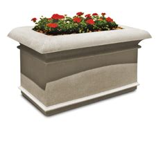 Concrete  Stone Planters - The Park Catalog.