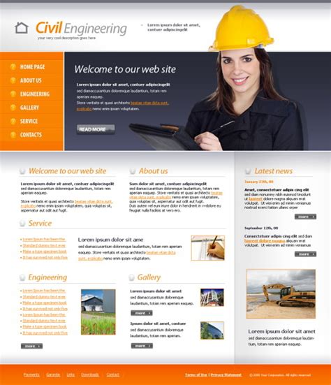 @ Construction  Engineering - Website Templates - Dreamtemplate.