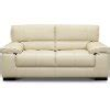 Contemporary Smoke White Leather Sofa - Sienna  Rc Willey .
