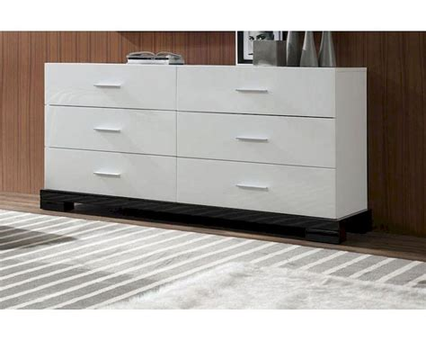 Contemporary White Drawer Chest