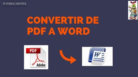 como convertir un documento de word a pdf en linea