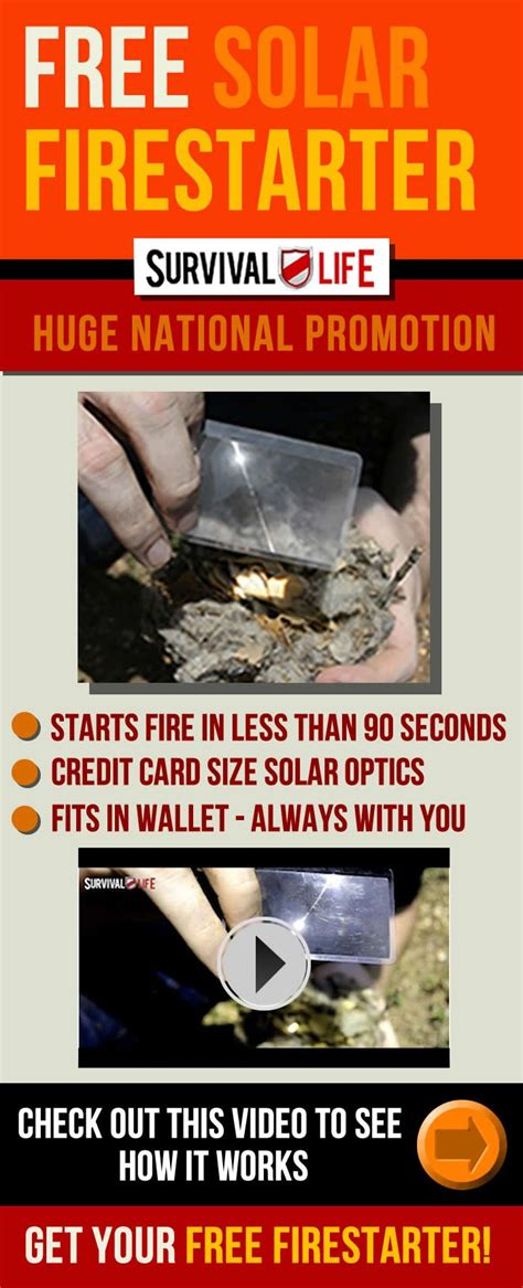 @ Cool Credit Card Sized Optic Firestarter   Cool Prepper Gear.