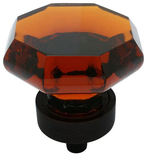 Cosmas 5268orb-A Oil Rubbed Bronze  Amber Glass Cabinet .