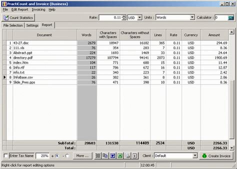 [click]count Lines The Easy Line Counter And Invoice Program Software.