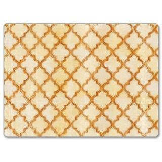 Counterart Antique Quatrefoil Hardboard Placemat Set Of 2 .