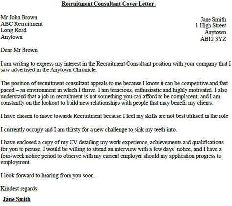 cover letter for staffing agency