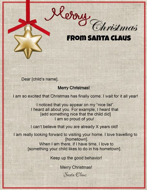 Create a Letter From Santa
