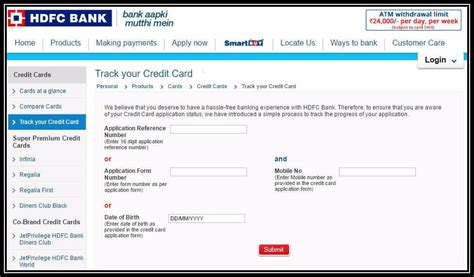Credit Card Application Status Of Hdfc Bank